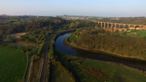 Ruswarp Viaduct Aerial Drone Photography Yorkshire